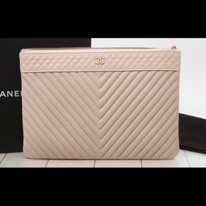 Authentic Pre-Owned Chanel Caviar Pouch